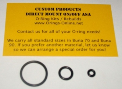Custom Products Direct Mount On/Off ASA Marker O-ring Kit x4