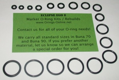 Planet Eclipse Ego 8 Marker O-ring Kit - 4 Rebuilds