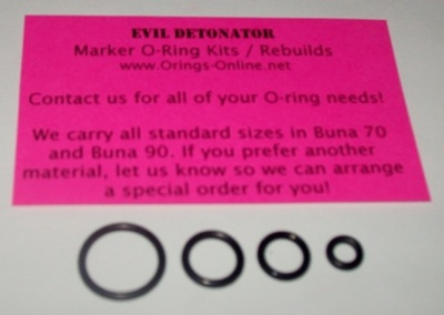Evil Detonator O-ring Kit - 4 Rebuilds
