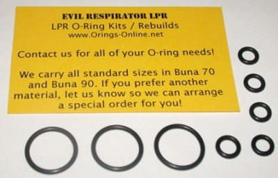 Evil Respirator LPR O-ring Kit - 4 Rebuilds