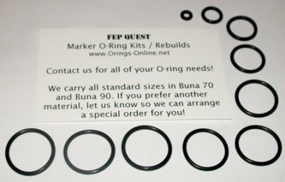 FEP Quest Marker O-ring Kit - 4 Rebuilds