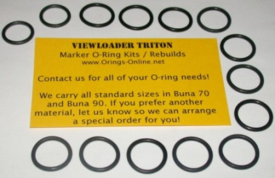 Viewloader Triton Marker O-ring Kit - 4 Rebuilds