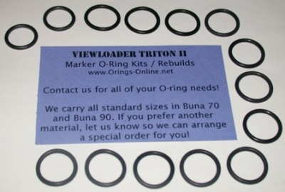 Viewloader Triton II Marker O-ring Kit - 2 Rebuilds