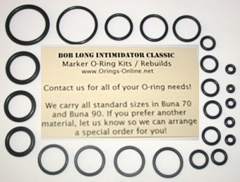 Bob Long Intimidator Classic Marker O-ring Kit - 4 Rebuilds