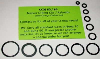 CCM S5 / S6 Marker O-ring Kit - 2 Rebuilds