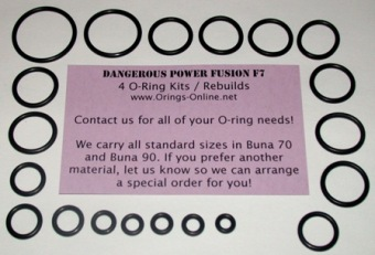 Dangerous Power - Fusion F7 Marker O-ring kit 4 rebuilds
