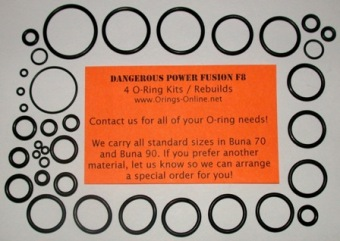 Dangerous Power - Fusion F8 Marker O-ring kit 4 rebuilds