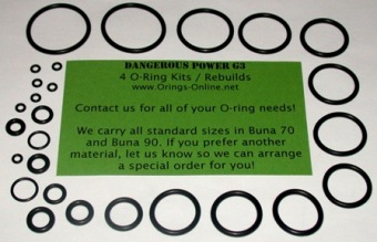 Dangerous Power - G3 Marker O-ring kit 4 rebuilds