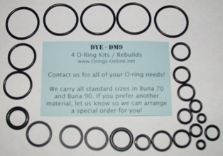 DYE - DM9 O-ring Kit - 2 Rebuilds