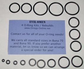 Evil Omen O-ring Kit - 2 Rebuilds
