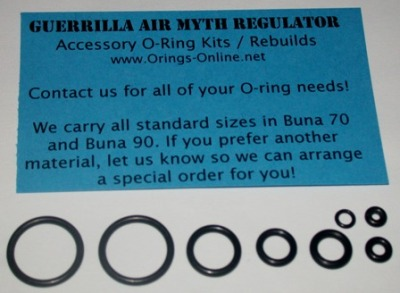 Guerrilla Air Myth Regulator O-ring Kit - 4 Rebuilds