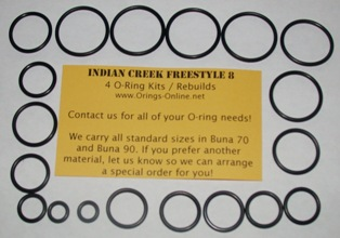 Indian Creek Freestyle 8 O-ring Kit - 2 Rebuilds