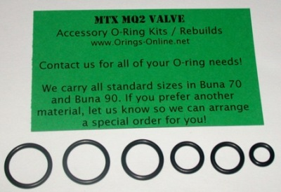 Autococker MTX MQ2 Valve O-ring Kit - 4 Rebuilds
