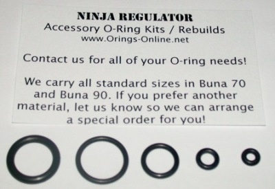 Ninja Regulator O-ring Kit - 4 Rebuilds