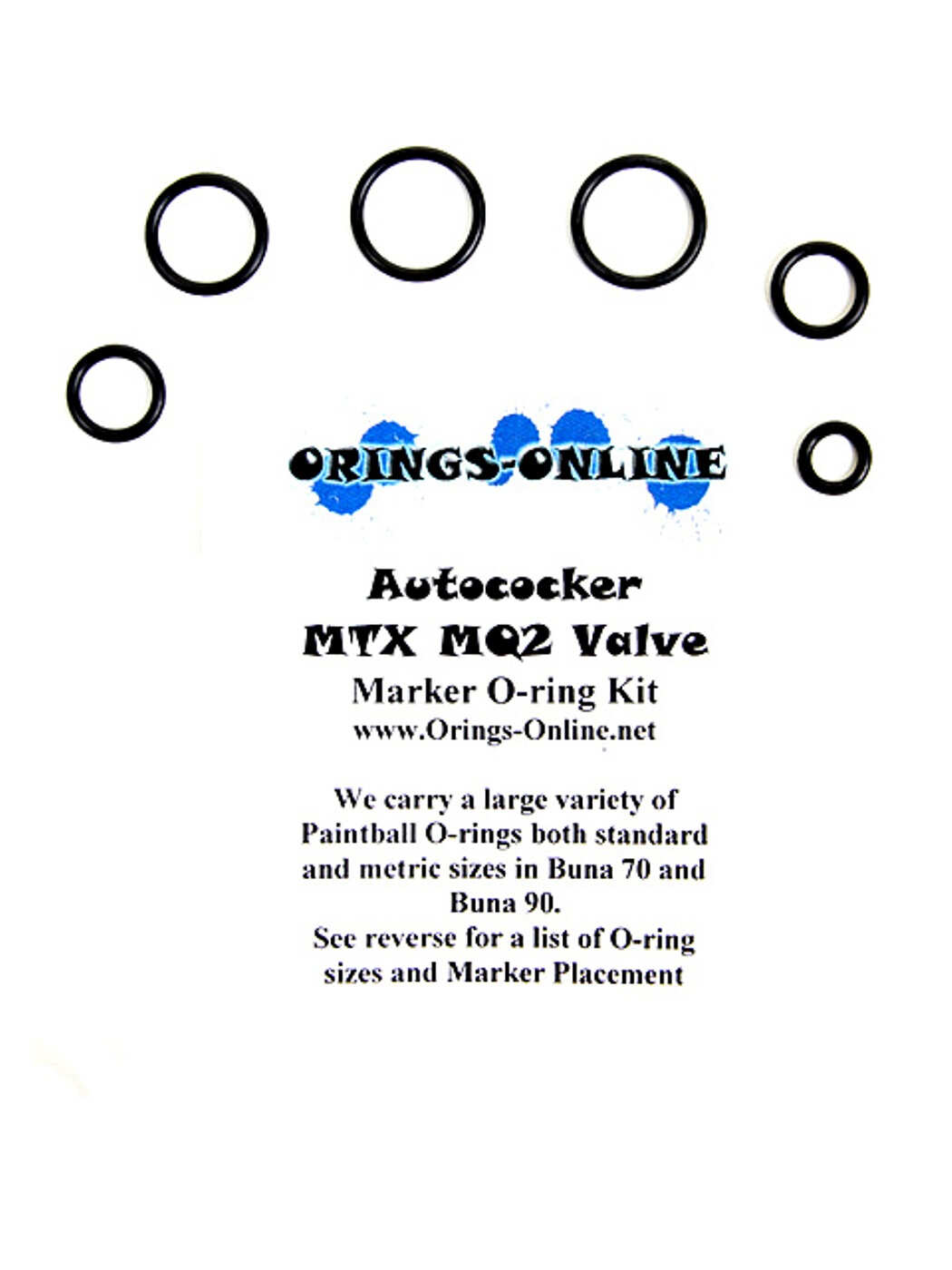 Autococker MTX MQ2 Valve O-ring Kit