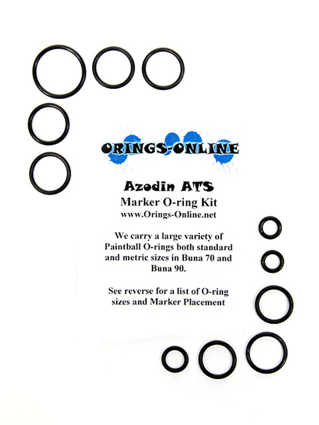 Azodin ATS Marker O-ring Kit Rebuilds