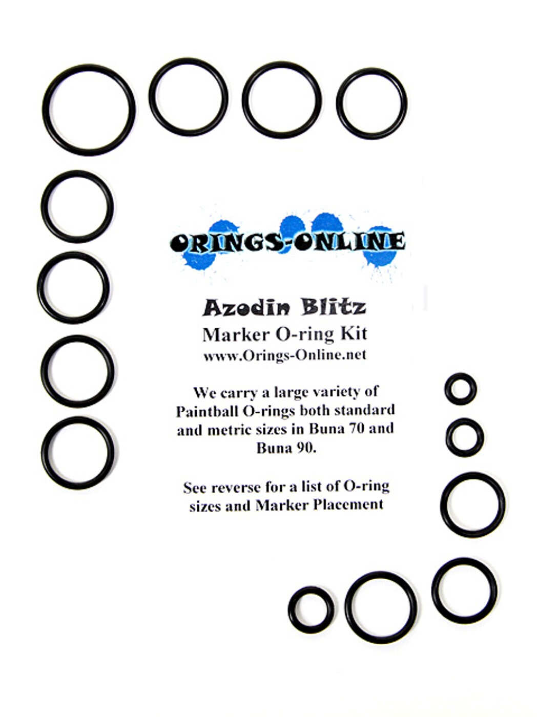 Azodin Blitz Marker O-ring Kit