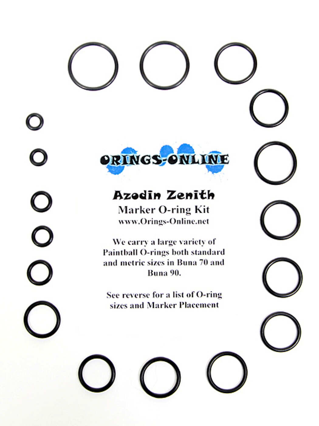 Azodin Zenith Marker O-ring Kit Rebuilds