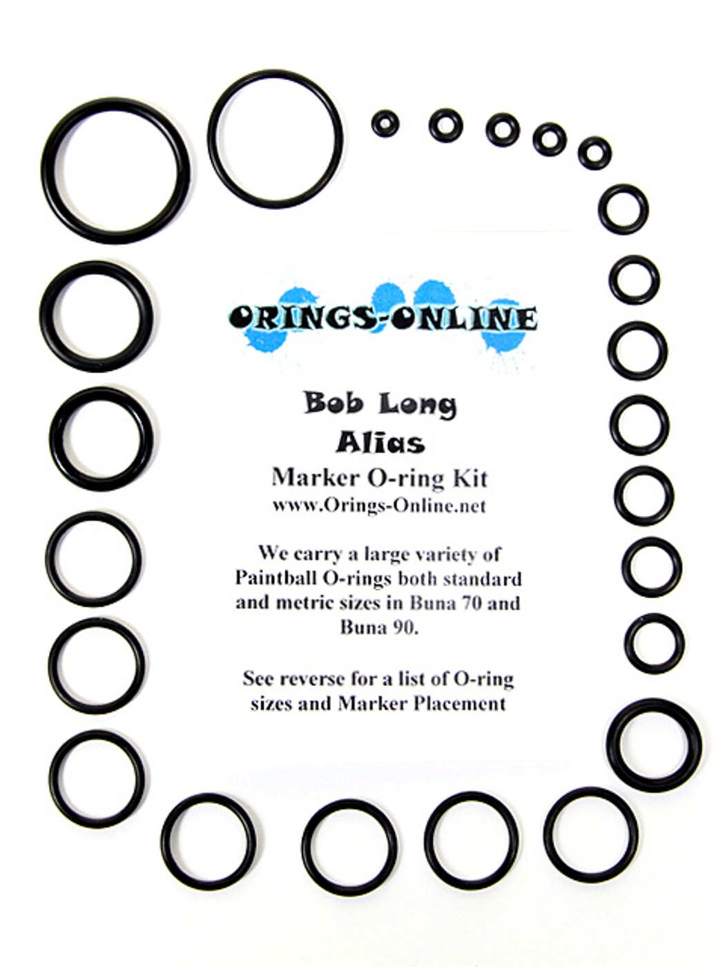 Bob Long Alias Marker O-ring Kit