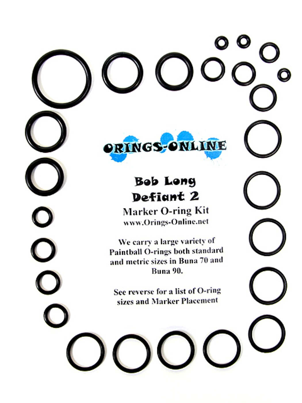 Bob Long Defiant 2 Marker O-ring Kit