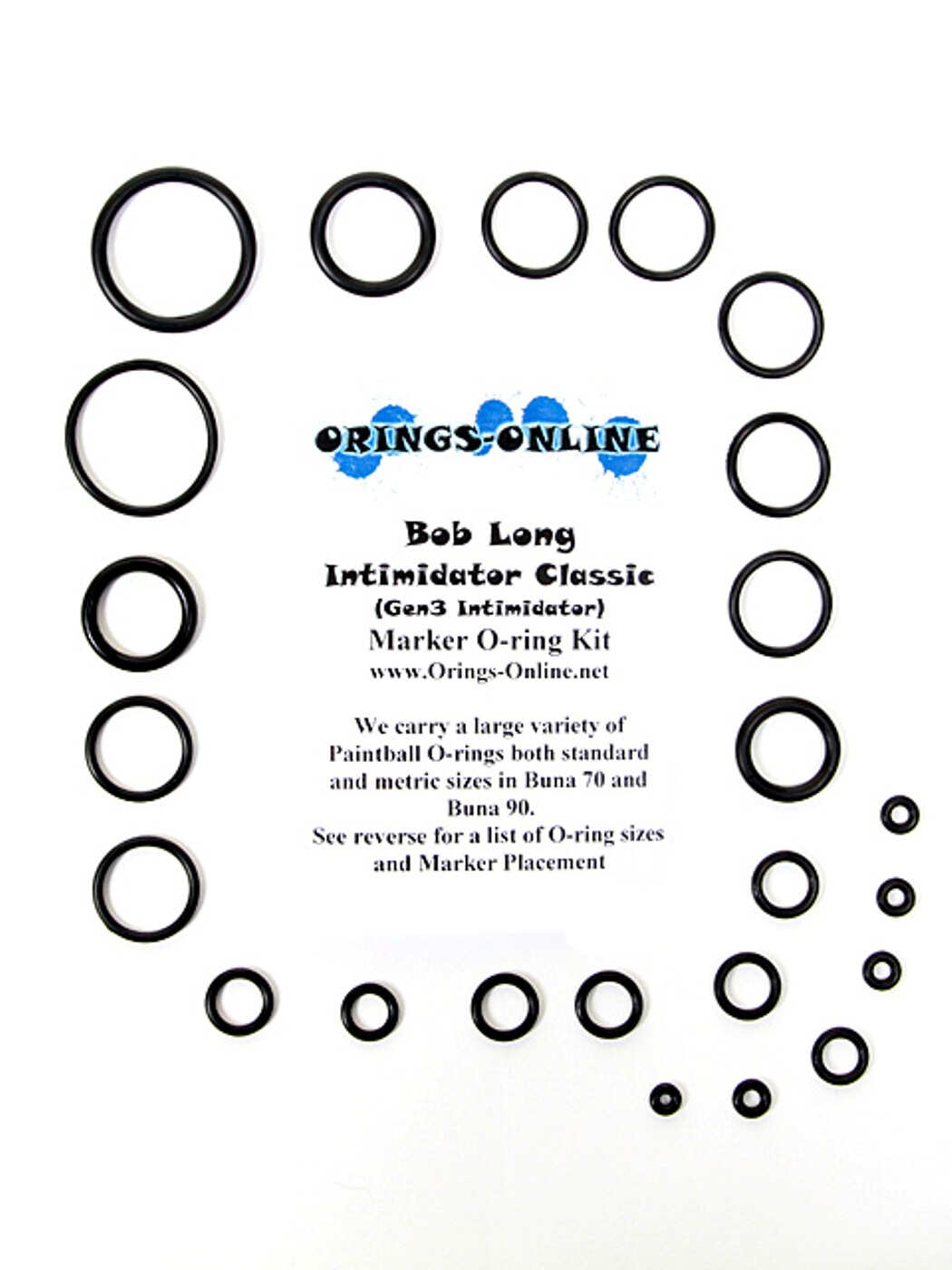Bob Long Intimidator Classic Marker O-ring Kit