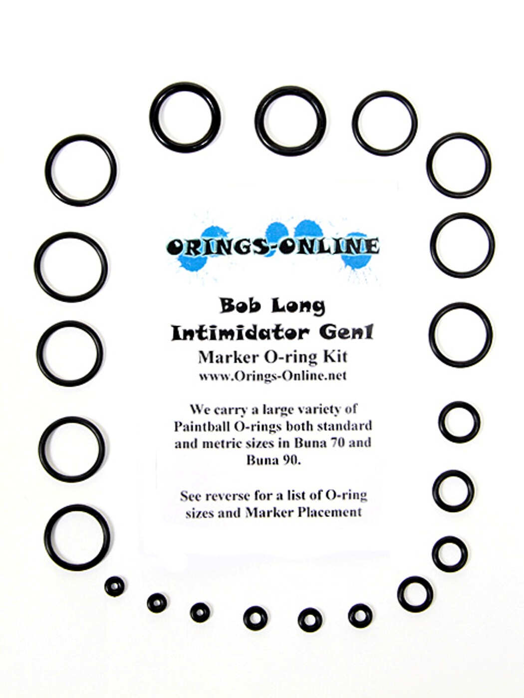 Bob Long Intimidator Gen1 Marker O-ring Kit