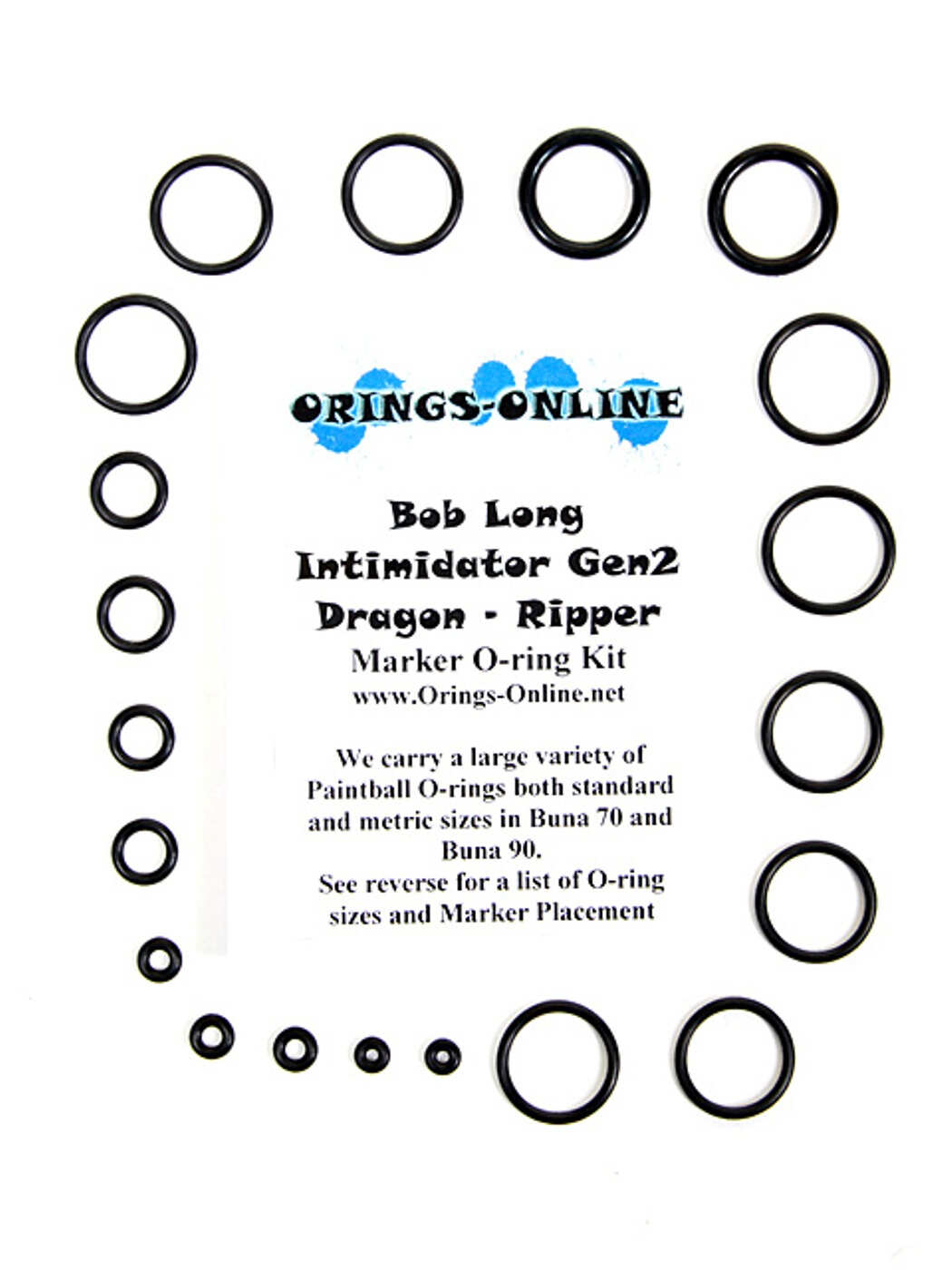 Bob Long Intimidator Gen2 Dragon Ripper Marker O-ring Kit