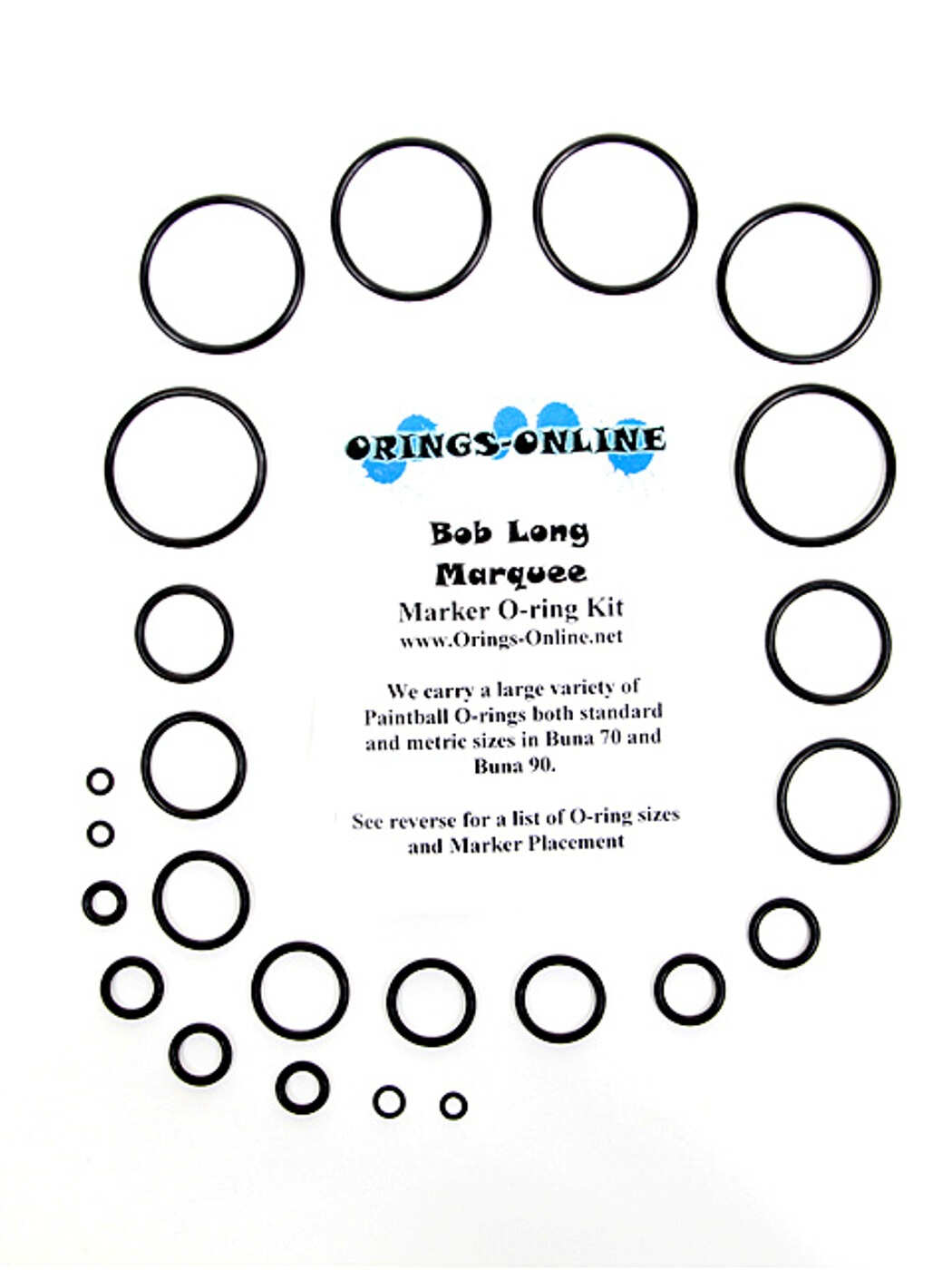 Bob Long - Marquee Marker O-ring Kit