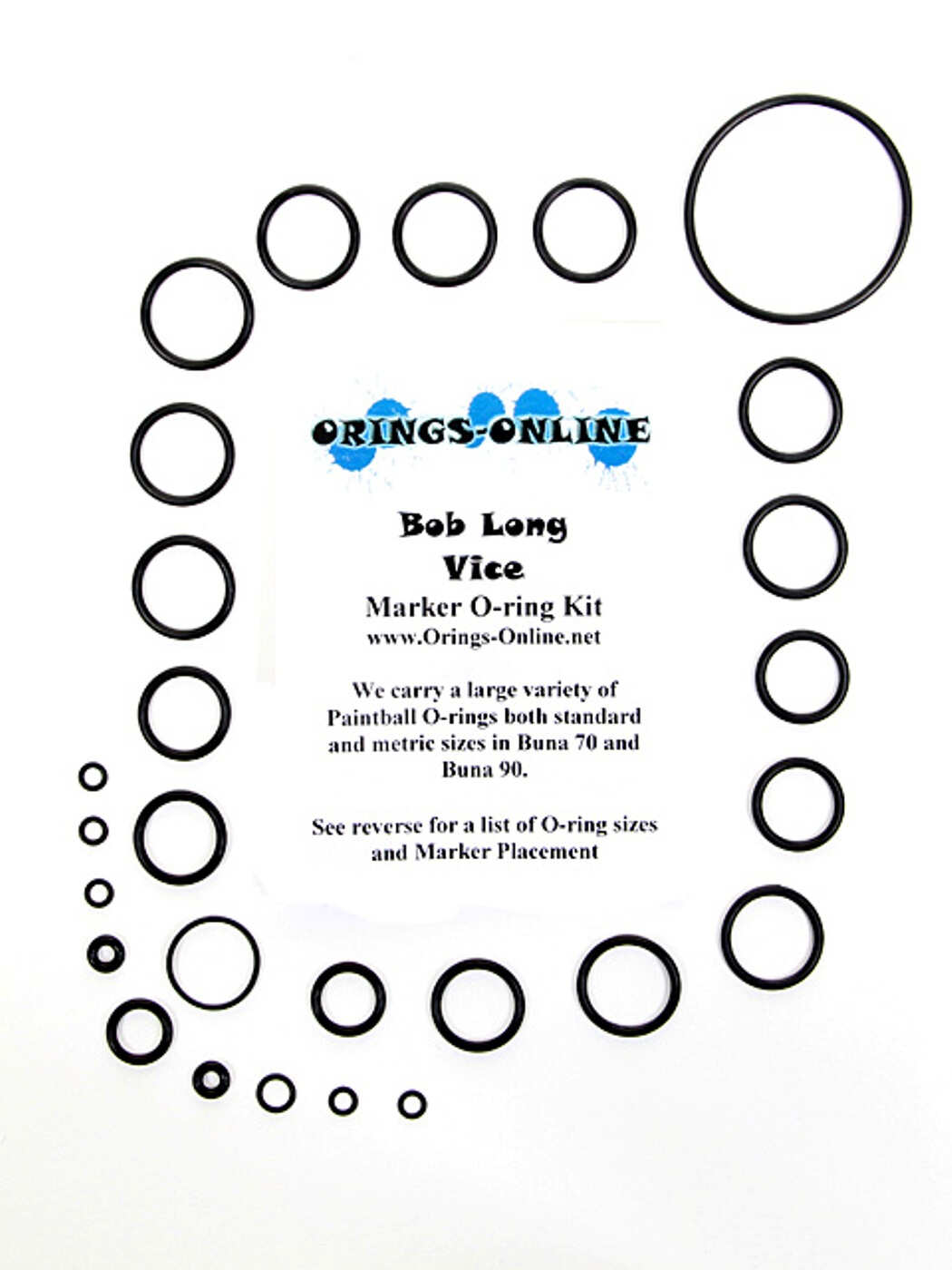 Bob Long Vice Marker O-ring Kit