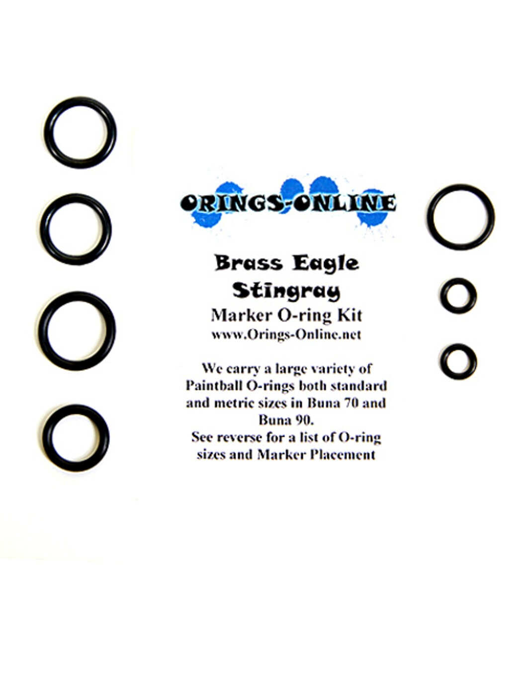 Brass Eagle - Stingray Marker O-ring Kit