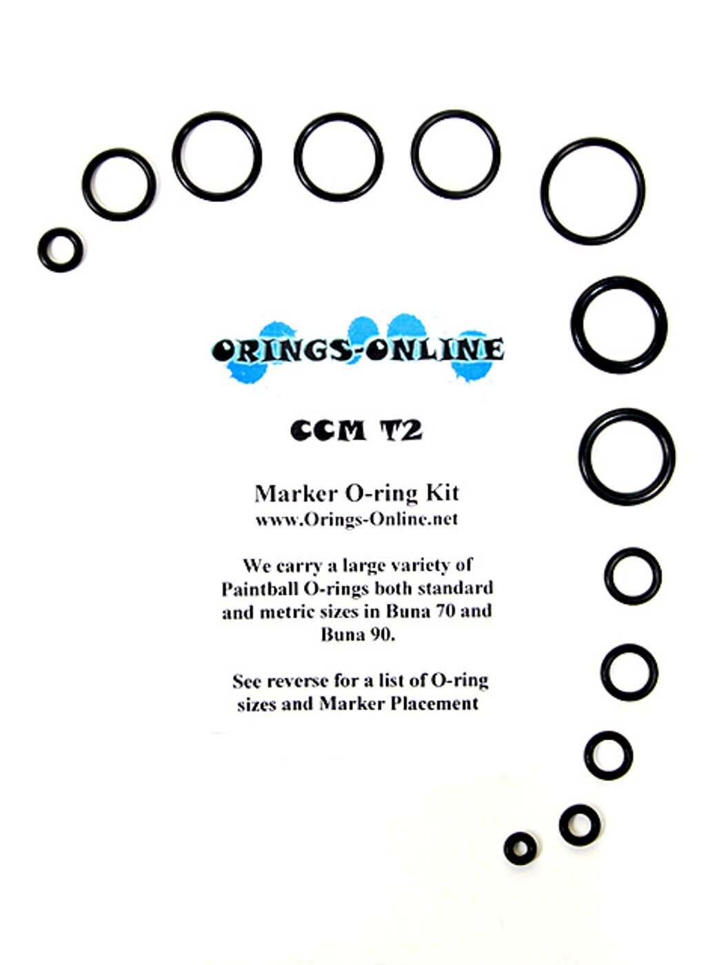 CCM T2 Chipley Custom Machine Marker O-ring Kit