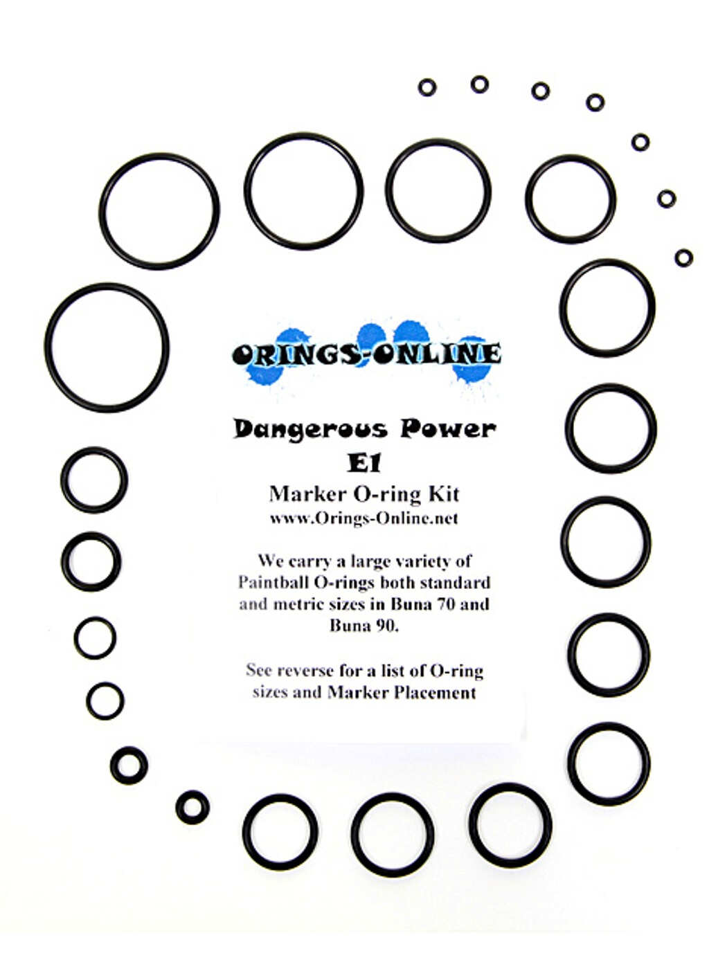 Dangerous Power E1 Marker O-ring Kit