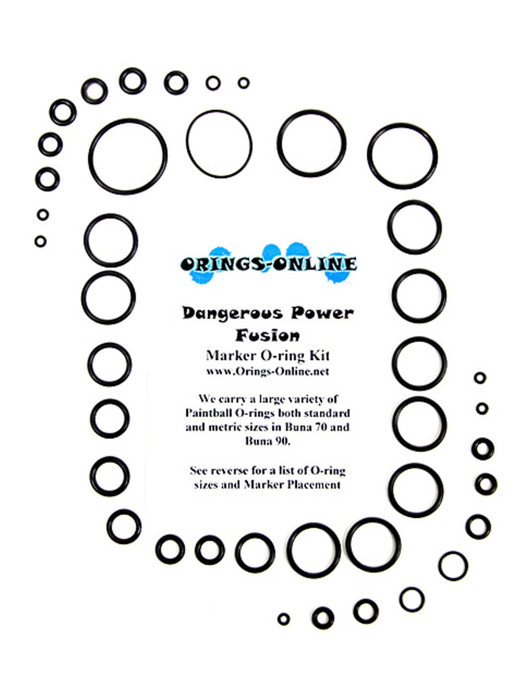 Dangerous Power Fusion Marker O-ring Kit