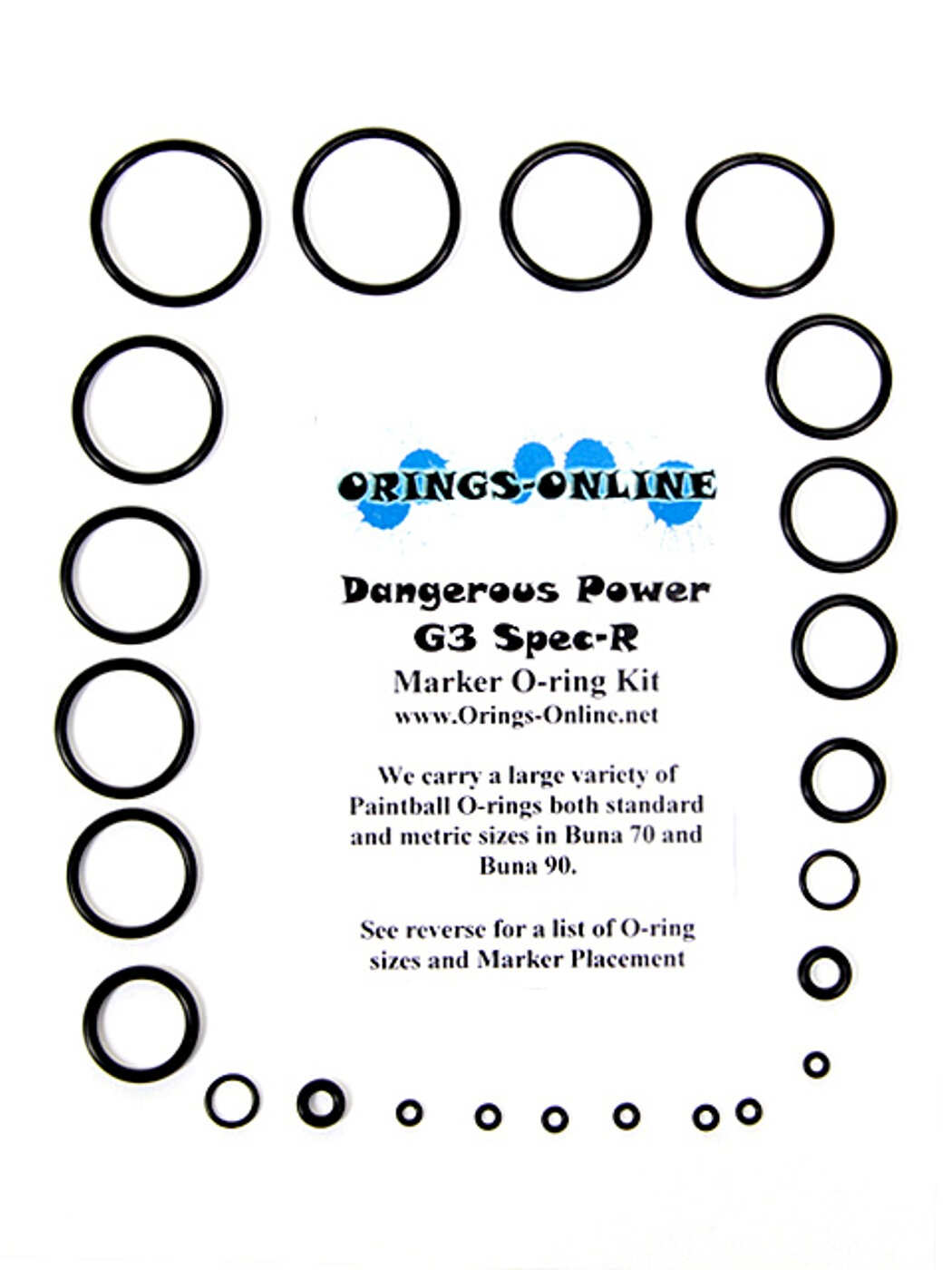 Dangerous Power G3 Spec-R Marker O-ring Kit