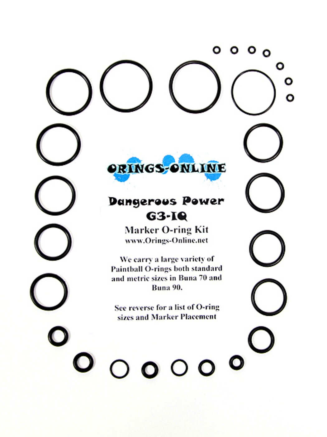 Dangerous Power G3-IQ Marker O-ring Kit