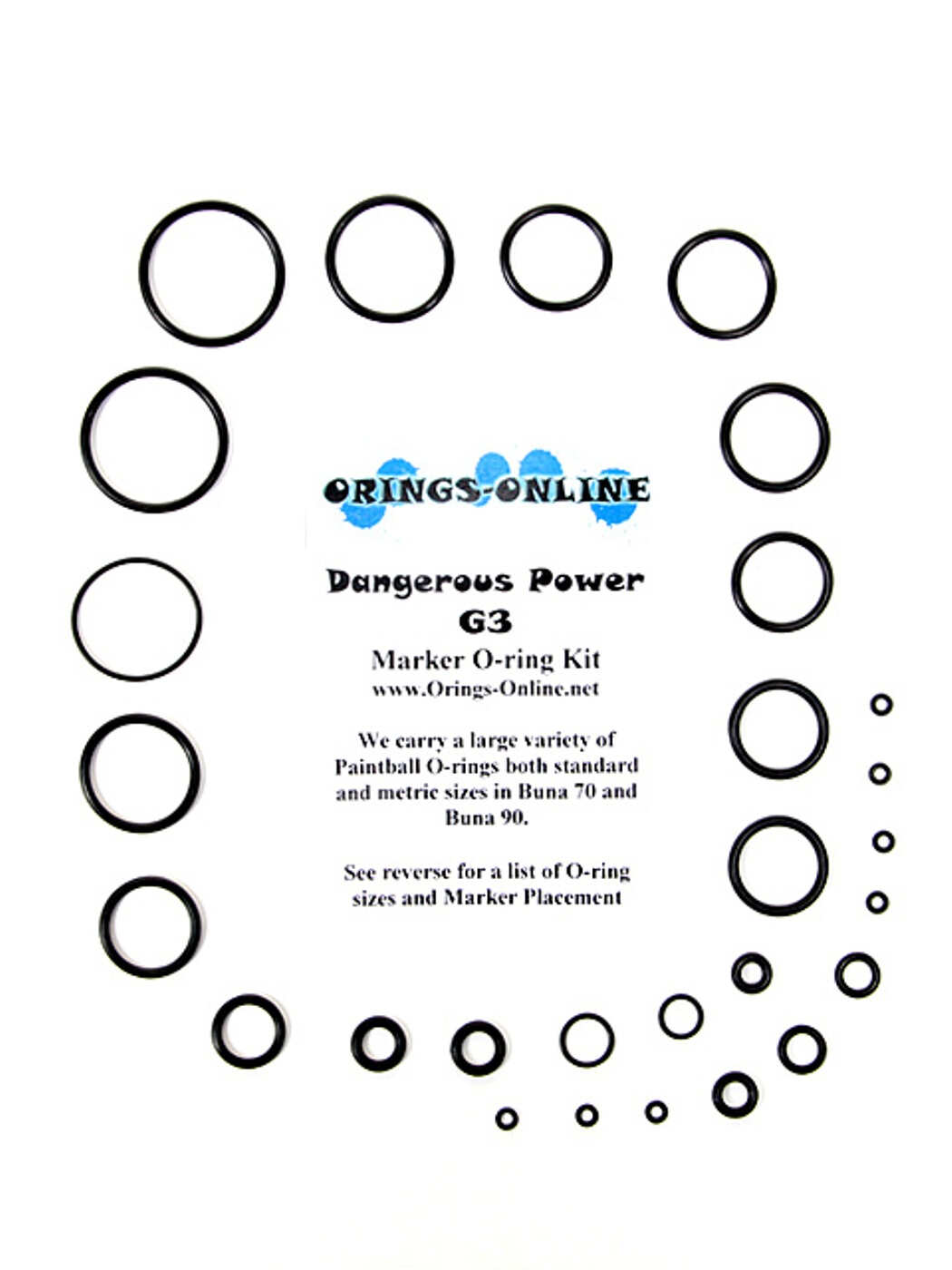Dangerous Power - G3 Marker O-ring Kit