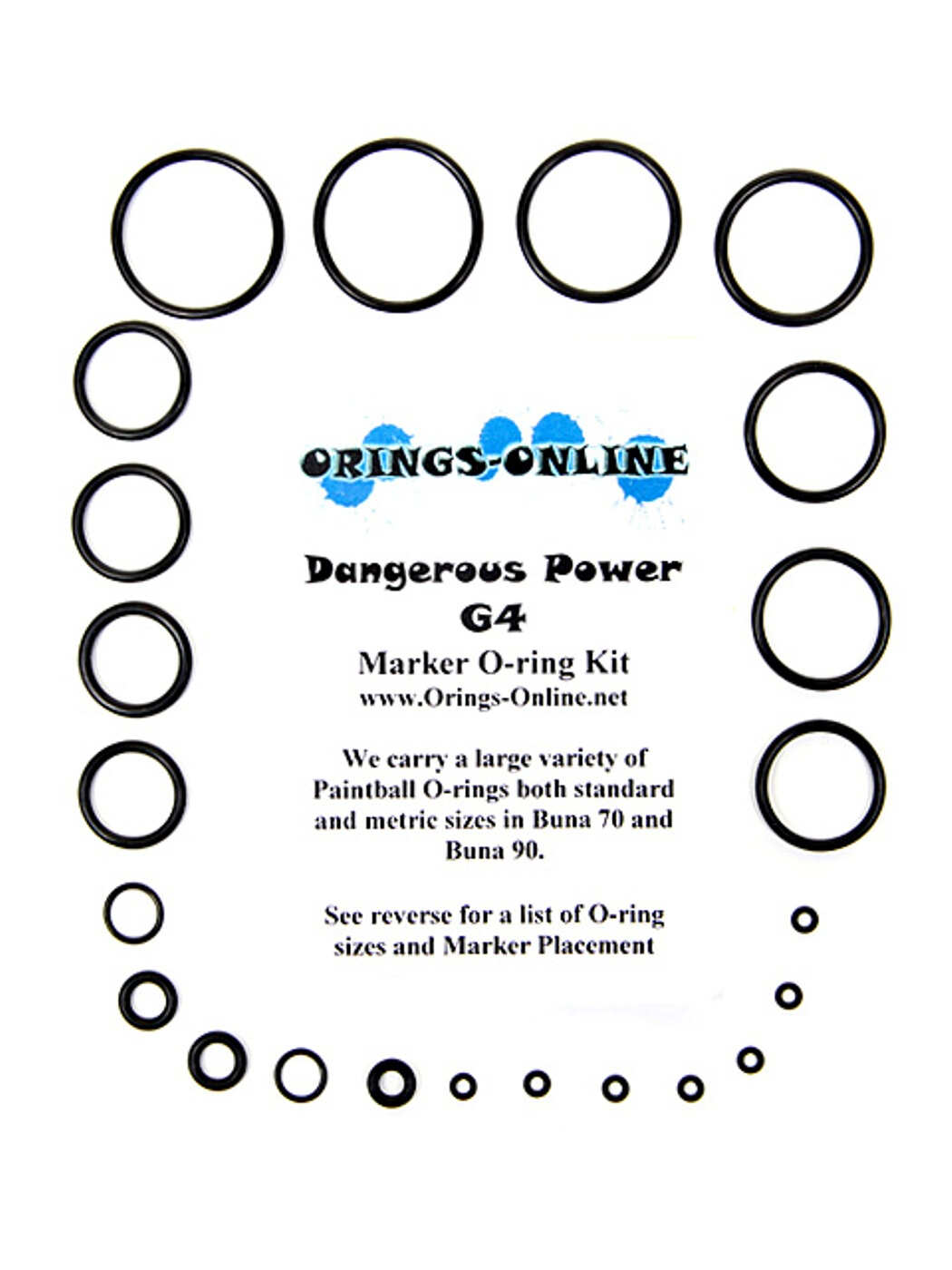 Dangerous Power G4 Marker O-ring Kit