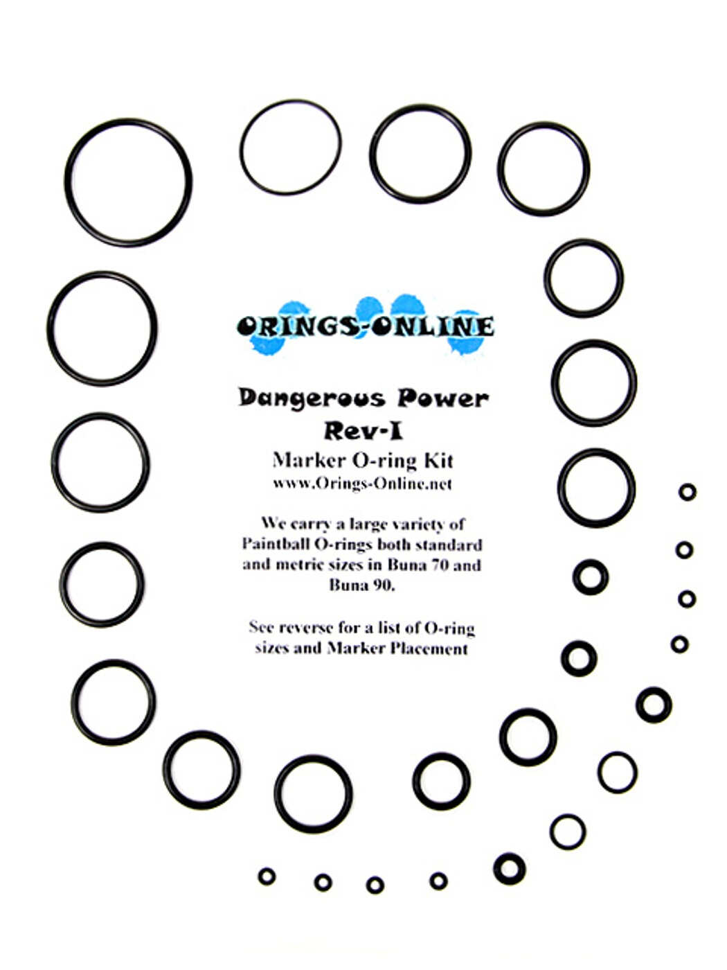 Dangerous Power Rev-I Marker O-ring Kit