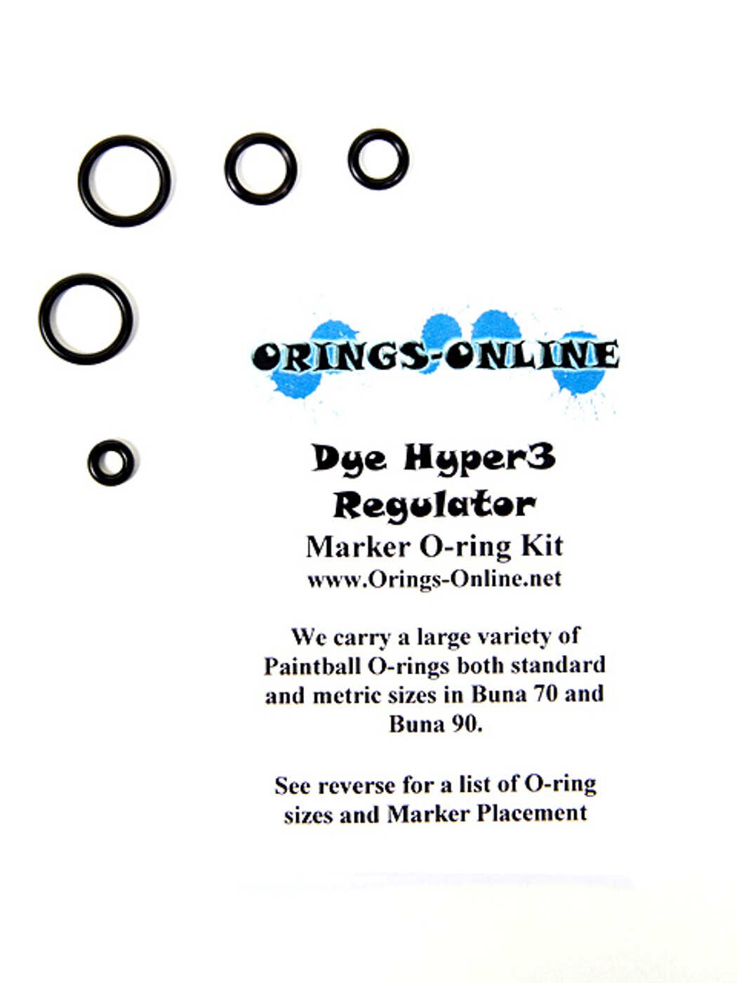 DYE Hyper 3 Regulator O-ring Kit