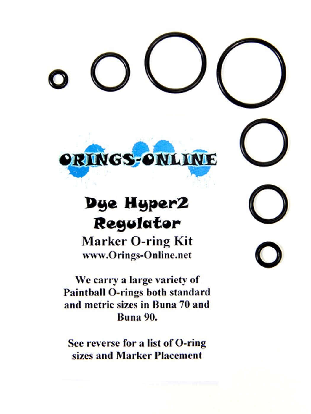 DYE Hyper 2 Regulator O-ring Kit