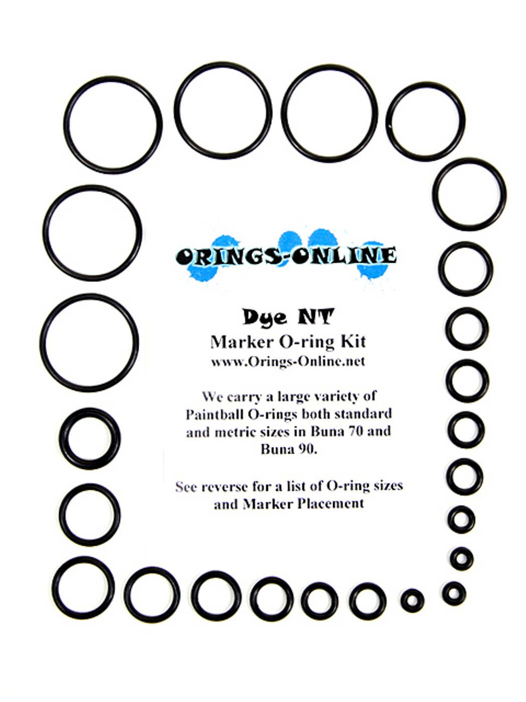 Dye Matrix NT Marker O-ring Kit