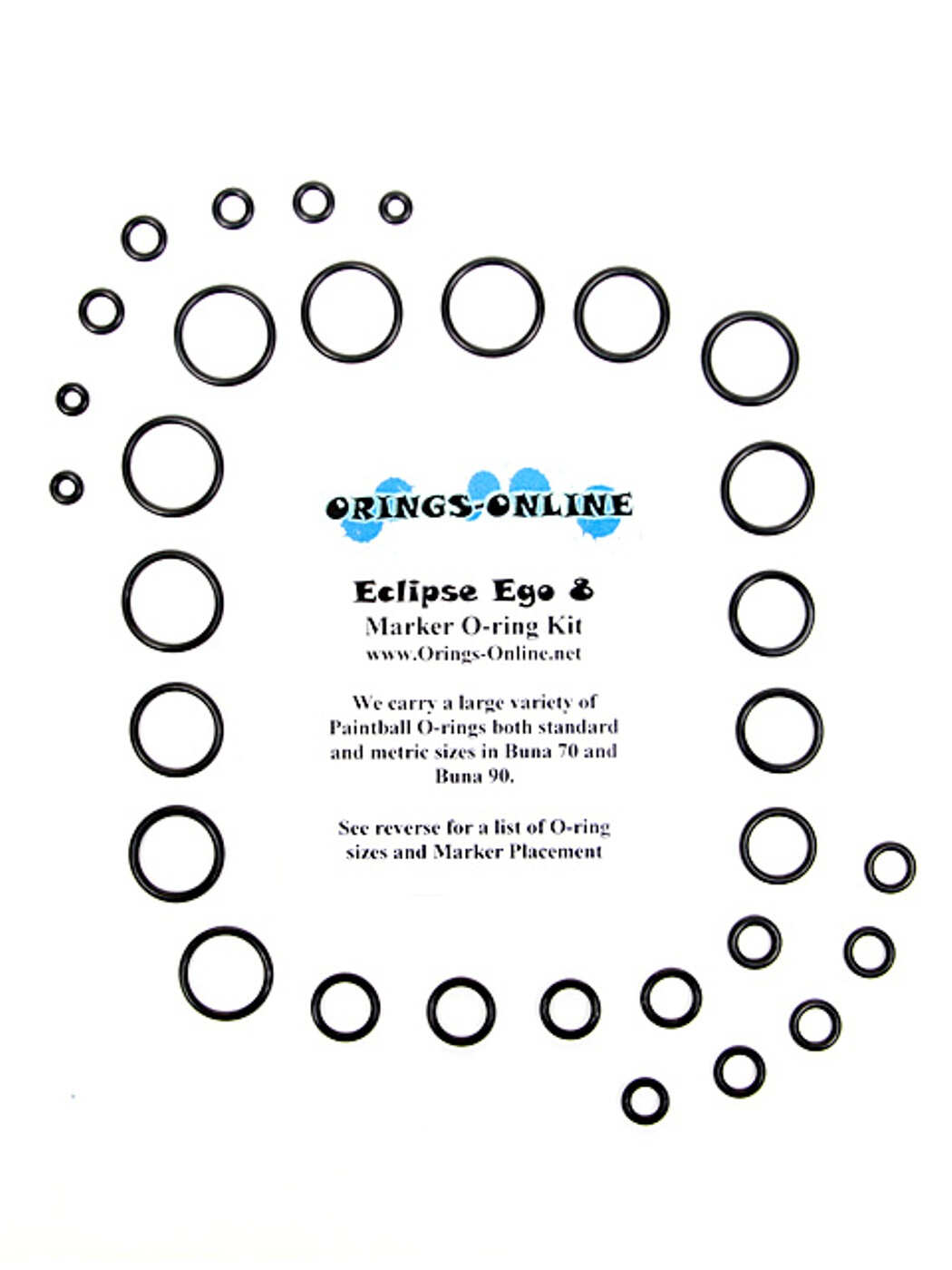 Planet Eclipse Ego 8 Marker O-ring Kit