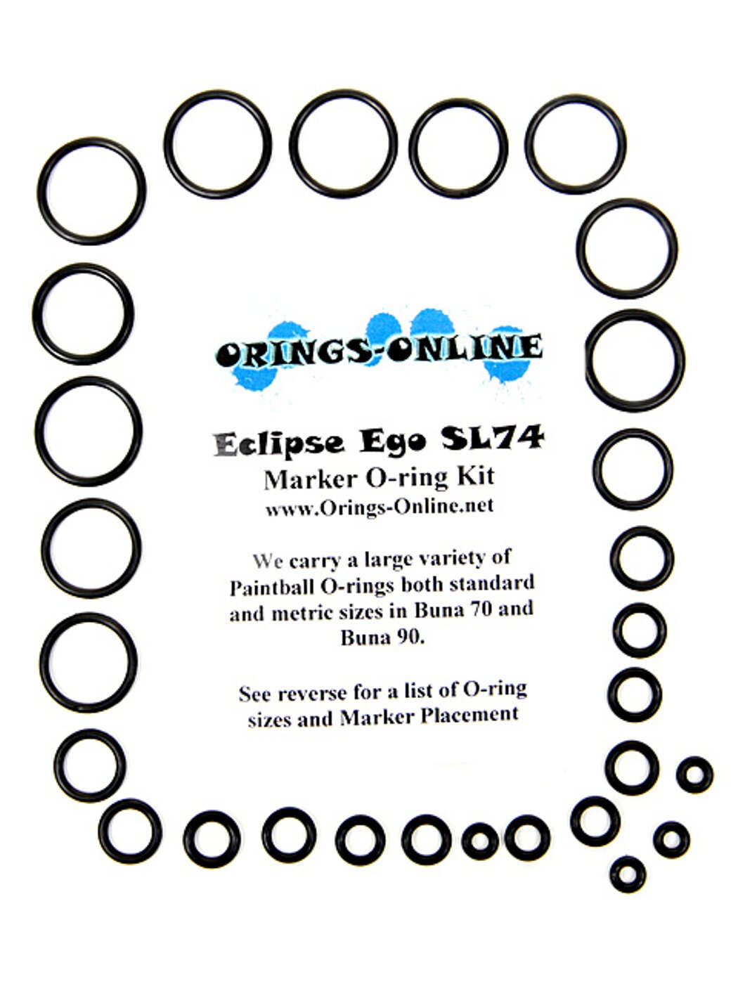 Planet Eclipse Ego SL74 Marker O-ring Kit