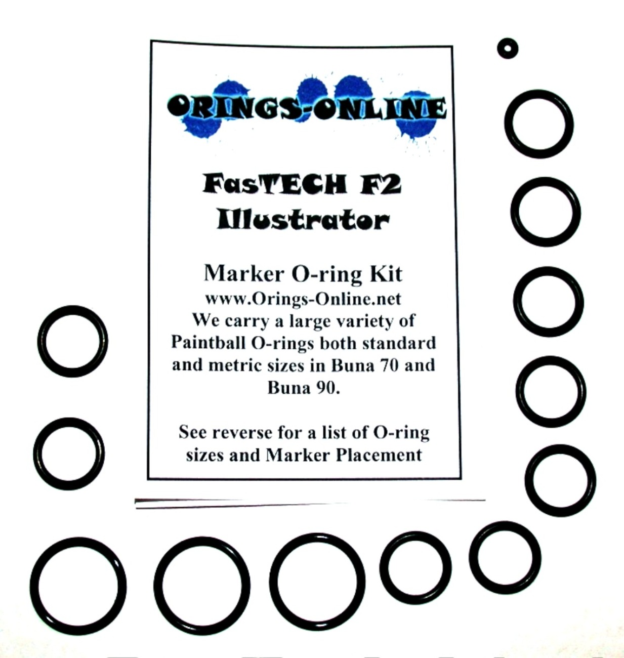 Fastech F2 Illustrator Marker O-ring Kit
