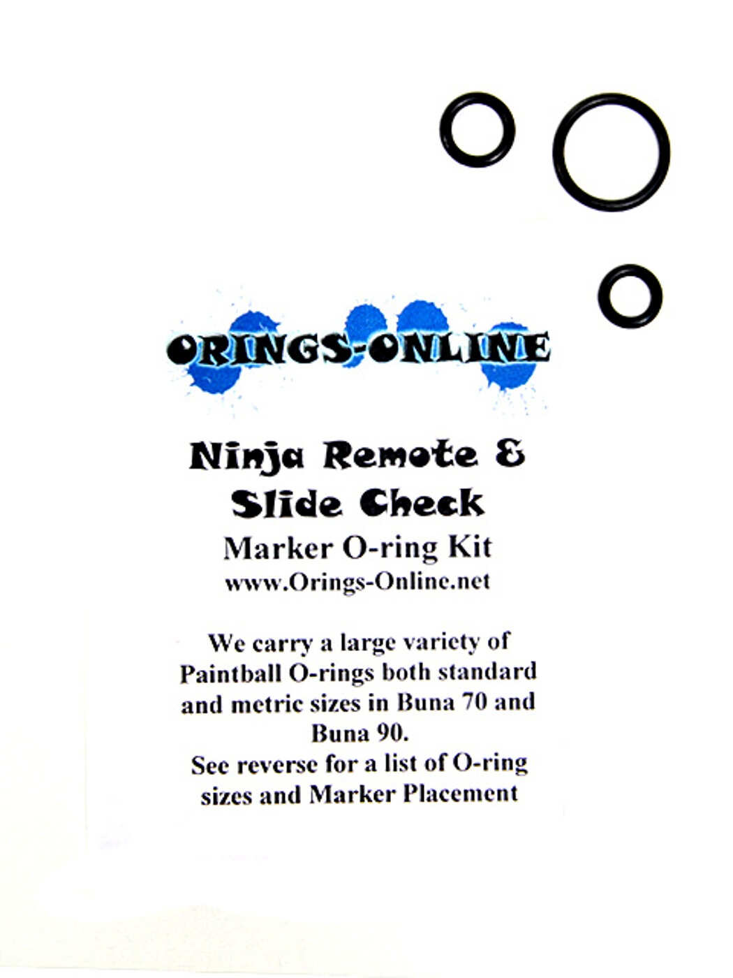 Ninja Remote & Slide Check O-ring Kit