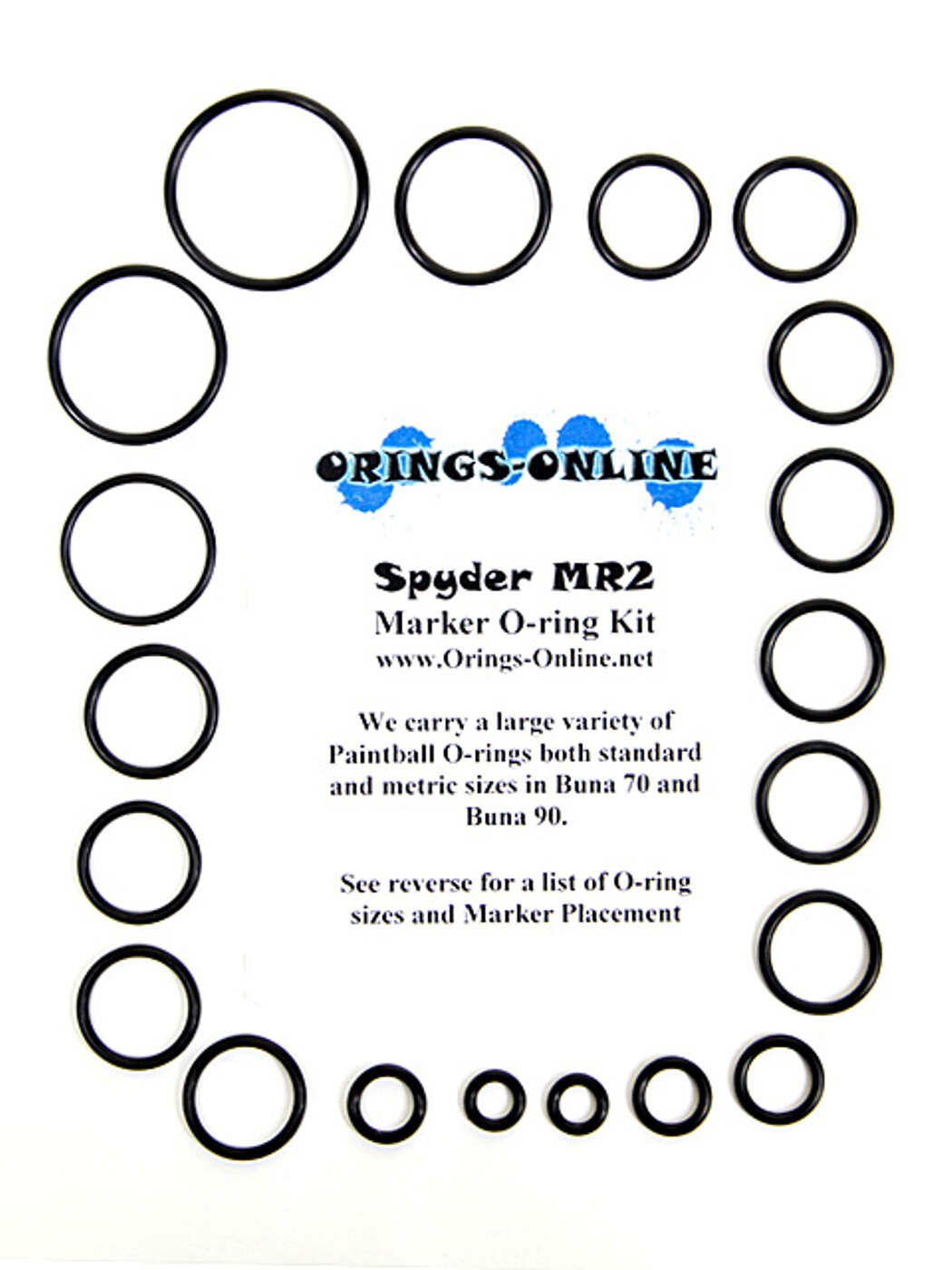 Spyder MR2 Marker O-ring Kit