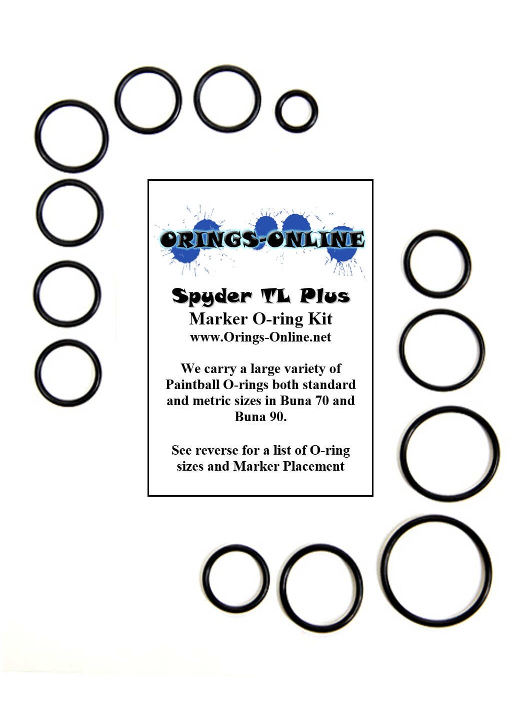 Spyder TL Plus Marker O-ring Kit