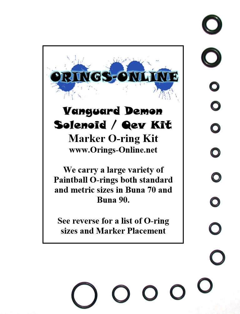 Vanguard Demon Solenoid / Qev Marker O-ring Kit
