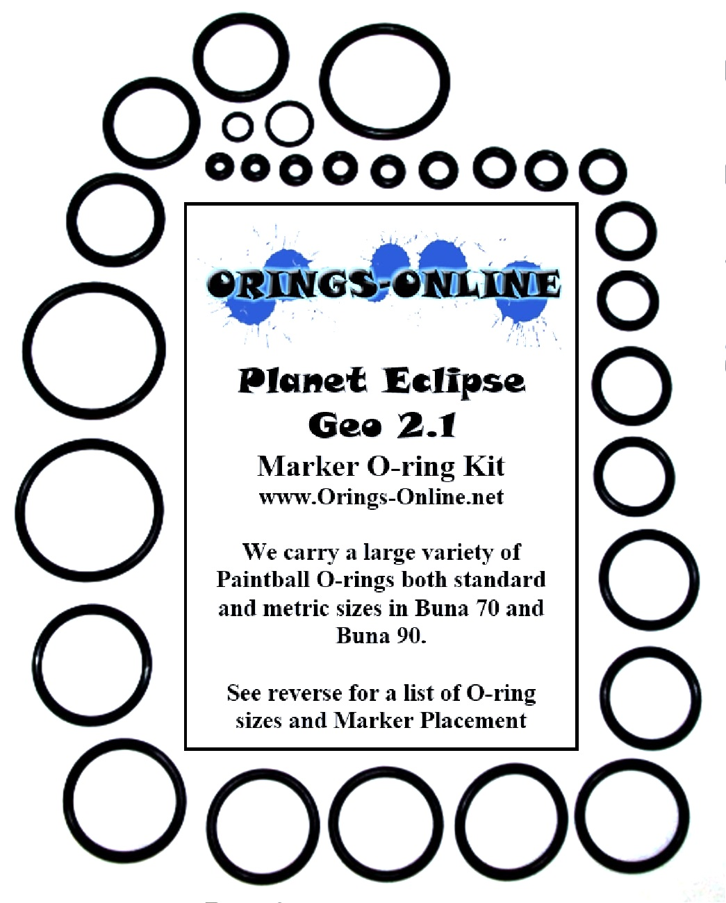 Planet Eclipse Geo 2.1 Marker O-ring Kit