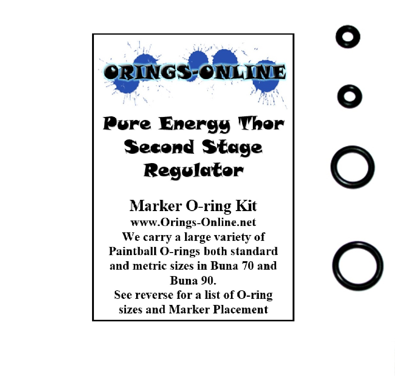 Pure Energy Thor Second Stage Regulator O-ring Kit